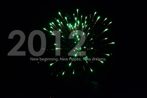 2012, beginning, dreams, firework, green, happy new year, hopes, new, photography, text