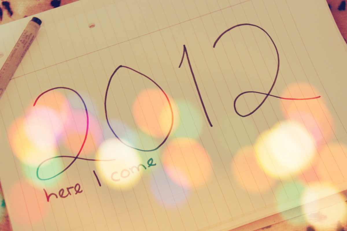 2012, bokeh, new year
