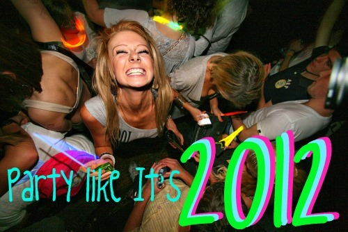 2012, crazy, drink, drunk, friends, fun, funny, girl, glow stick, laugh, life, light, live, new years, night, party, smile, teenager, we will die, weekend