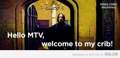 9gag, crib, fun, funny, haha, harry potter, hilarious, lol, mtv, mtv cribs, severus snape, snape, welcome to my crib