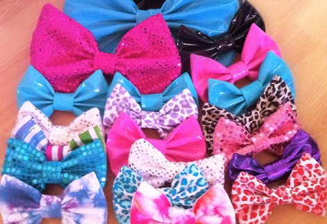 accessories, black hair, bow, bows, fashion, girl, hair bows, leopard print, pvc, sequins, starry eyed bowtique