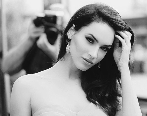 Actress beautiful beauty black and white girl gorgeous megan fox