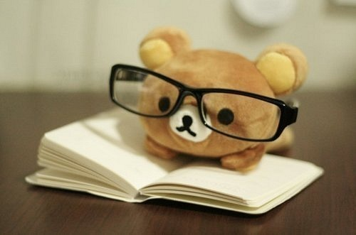 adorable, aww, book, cute, glasses