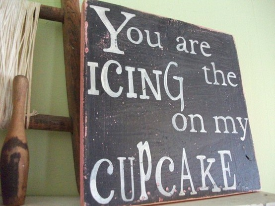 adorable, cupcake, cute, icing, love, photography, quote, sign, sweet