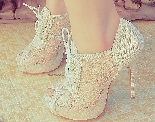 Heels cute cute shoes heels lace lace shoes shoes white