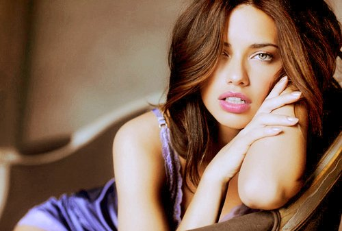 adriana lima, girl, i feel stupid and contaigious, i feel stupid and contaigous, lips, pink, sexy, victorias secret