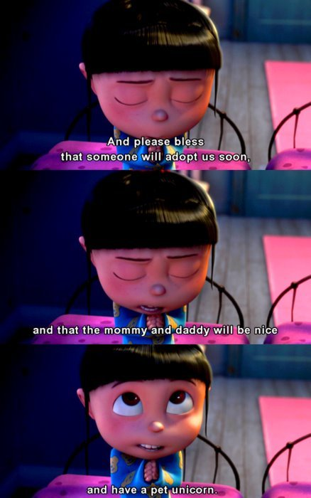 agnes, bless, cute, despicable me, pray
