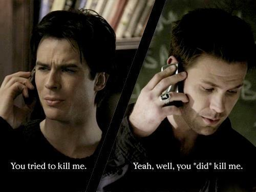 alaric saltzman, damon salvatore, ian somerhalder, the vampire diaries