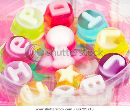 alphabet, blue, candy, colorful, cute, dessert, jelly, kawaii, lovely, pink, purple, red, sugar, sweet, sweets, tasty, temptation, text, yellow, yummy