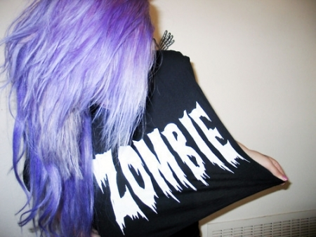 alternative, beautiful, cute, girl, girls, gorgeous, hair, pretty, purple, woman, zombie