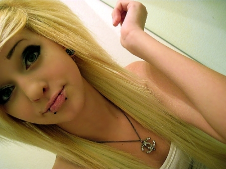 alternative, blonde, cute, girl, girls, piercing, pretty, scene