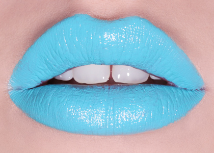 amazing, blue, blue lips, colors, fashion, girl, lipgloss, lips, lipstick, make up, teal, turqouise lips