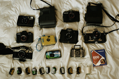 analog, awesome, bed, camera, canon, cute, film, hipster, holga, indie, nikon, photo, polaroid
