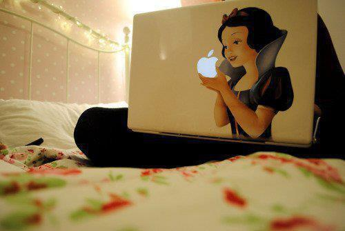 apple, laptop, mac, snowwhite