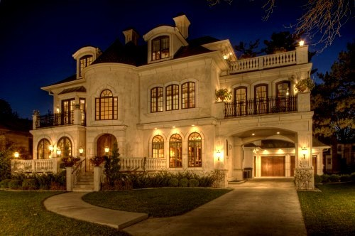 Home House Lights Luxury Nice Night Photography Vintage White