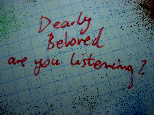 are you listening, dearly beloved, green day, lyrics, text, writing
