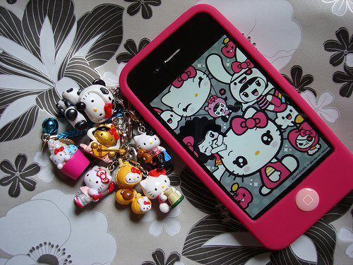 art, beautiful, bling, blue, cell phone, cute, diamond, eye, eyes, fashion, girl, glamour, heart, hello kitty, nails, pink, purse, woman