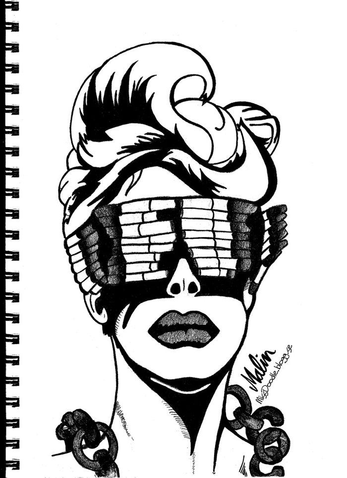 art, black and white, born this way, chains, cigarette glasses
