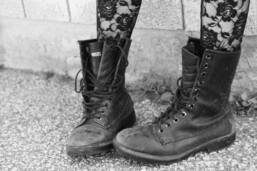 art, black, black and white photography, boots, combat boots