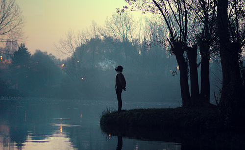 art, boy, forest, lake, man