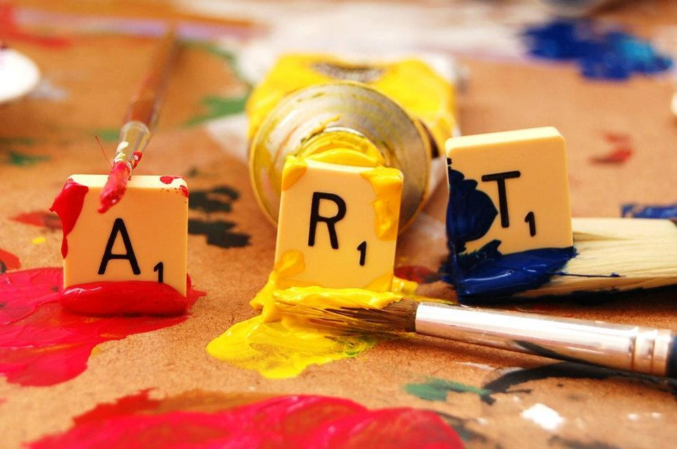 art, colour, creativity, paint, scrabble