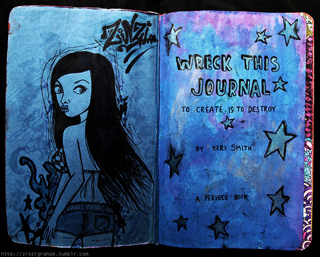 art, journal, this, wreck, wreck this journal