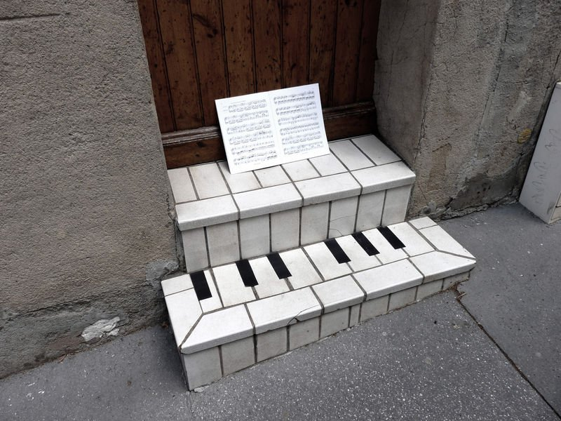 art, musique, partition, piano, street