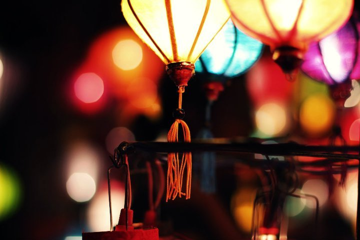 asian, colorful, lanterns, light, lights