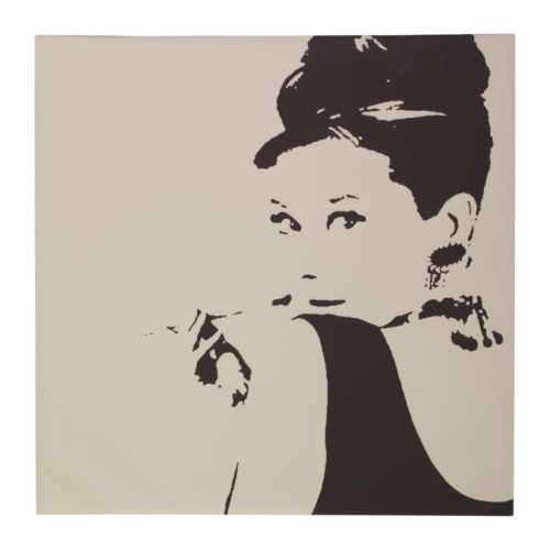 audrey hepburn, black and white, frame, ikea, picture