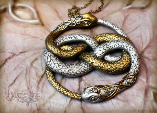 auryn, gold, jewelry, neverending story, plumvine