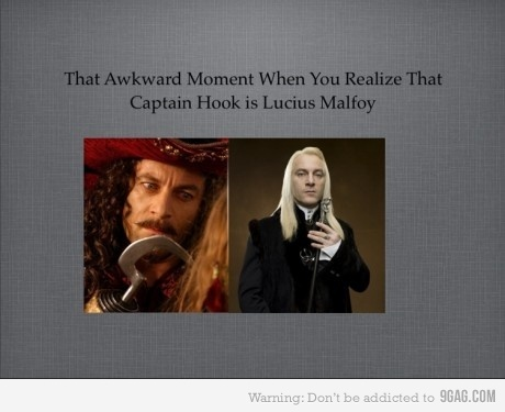 awesome, boy, captain hook, haha, harry potter, lucius malfoy, quote, true