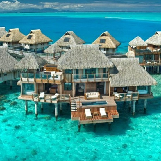 azur, beautiful, bora bora, exclusive, expensive, fashion, hilton, luxury, ocean, sand, straw