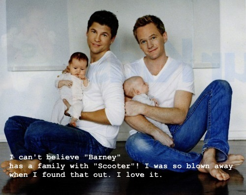 babies, barney, cute, family, neil patrick harris, scooter