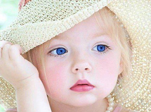 baby, baby girl, blonde, blue, blue eyes