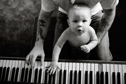 baby, boy, cute, hot, music, pianino, piano, play, tattoo
