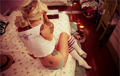 back, cute, freckles, girl, love, tattoo