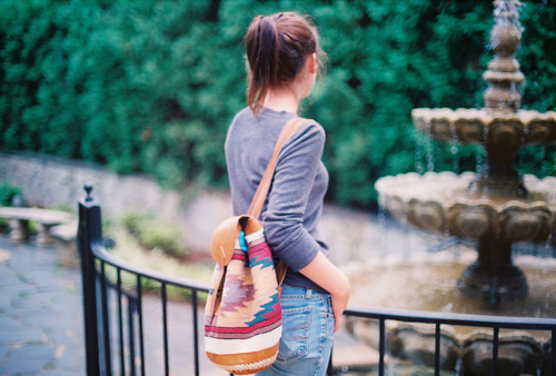 backpack, girl, photography