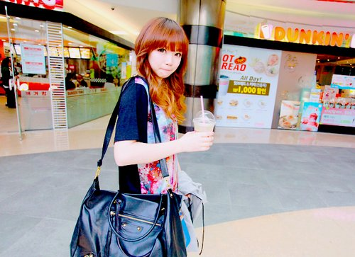 bag, beautiful, cute, drink, fashion