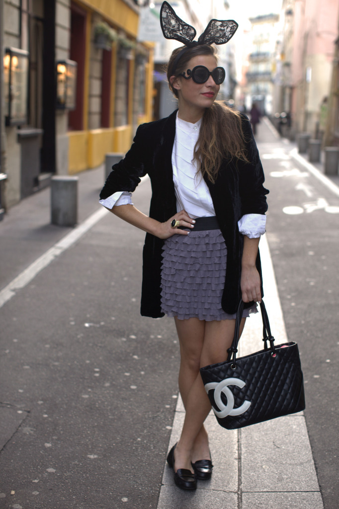 bag, bunny ears, chanel, fashion, girl