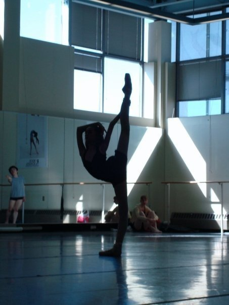 ballerine, ballet, blue, dance, dancer, point, pointe, stretch