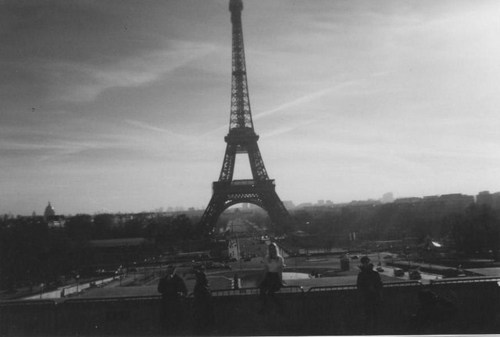 Eiffel Tower Black And White Landscape Eiffel Tower Landscape