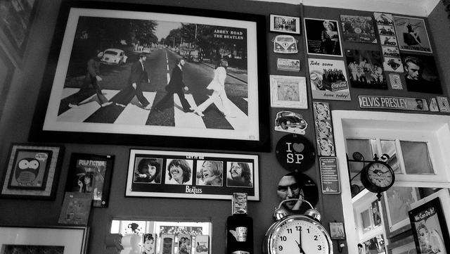band, black and white, music, stuff, the beatles