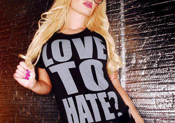 barbie, black, blonde, boss, dirty shirty, fun, girl, glam, gloss, hate, lady, long hair, love, model, pink, shirt, swag, swagger, tan, tee, woman