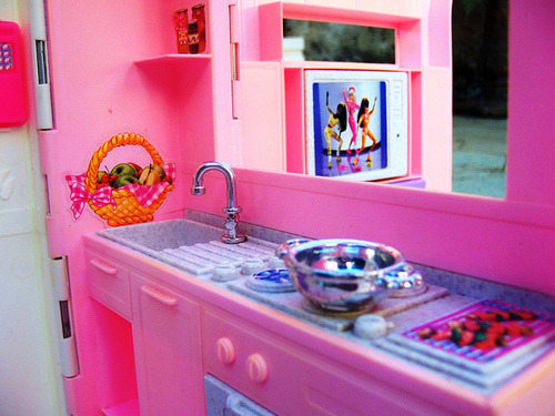 barbie, cute, doll, kitchen, lovely, pink, toys