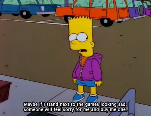 bart, games, sad, text, videogames
