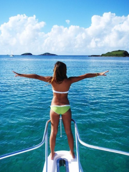 be happy, beautiful, bikini, boat, cute, fashion, girl, love, ocean, photography, pretty, sea, summer, surf, water, wave