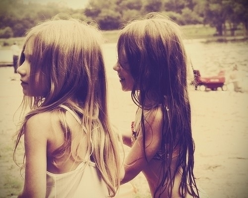beach, beautiful, children, cute, friends, girl, girls, gorgeous, hair, kid, long, long hair, pretty