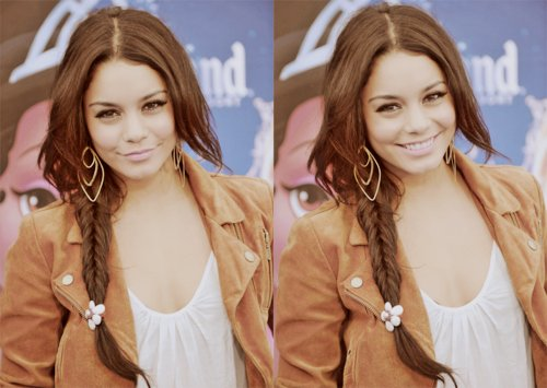 beastly, beauty, fashion, high school musical, hsm, hudgens, love, makeup, side braid, vanessa, vanessa hudgens