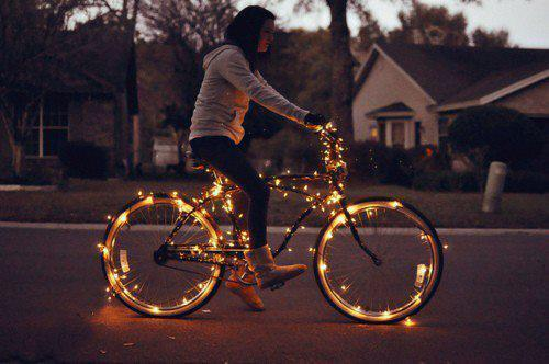 beautiful, bicycle, cute, evening, girl, house, nice, night, photo, photography, sweet