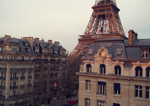beautiful, big city, building, cars, city, eiffel tower, europe, france, houses, lamps, paris, photography, sky, street, tower